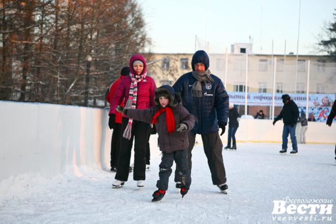 Выходные на льду: где во Всеволожском районе можно покататься на коньках
